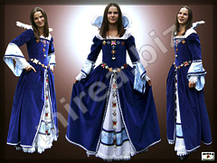 Baroque aristocratic ladies dress