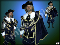 Men's Baroque noble costume