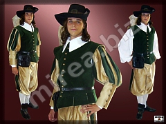 Mens' Baroque military costume
