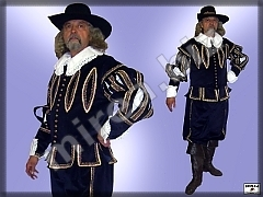 Mens baroque noble costume