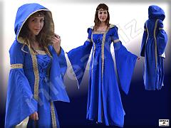 Dámske gotické šľachtické šaty s kapucňou 498c1061164