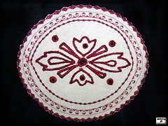 Embroidered place setting