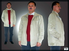 c6578a2e7c2c Pánska bunda - imitácia brúsenej kože
