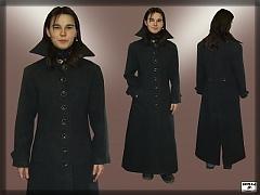 1ab017c20b87 Dámsky flaušový kabát vojenského strihu