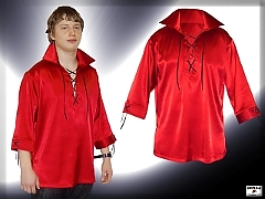 Men's satin fashion shirt