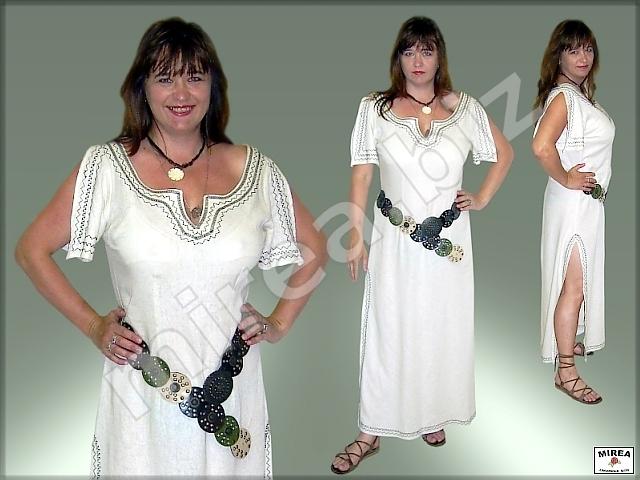 MIREA - Dámske ľanové letné šaty 407 9ce124045f3