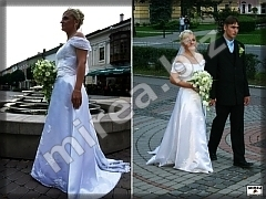 Wedding dresses with trailer