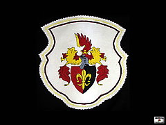 Embroidered crest of Jago